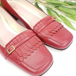 Brooks Brothers Loafers Red Leather Fringe…